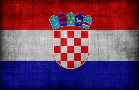 bandera croacia: Patr�n de la bandera de Croacia, el estilo retro de la vendimia Foto de archivo