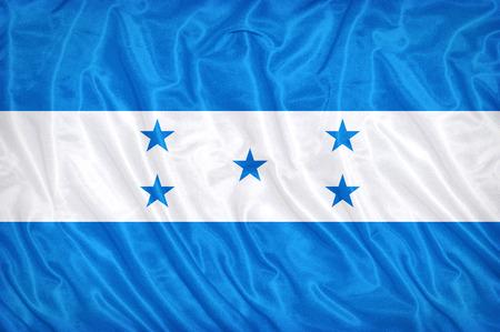 bandera de honduras: Patr�n de la bandera Honduras en la textura de la tela, estilo vintage Foto de archivo