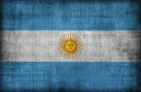 Argentina flag pattern,retro vintage style Stock Photo