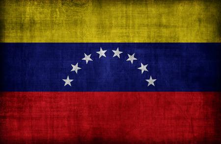 bandera de venezuela: Patr�n de bandera de Venezuela, el estilo retro de la vendimia Foto de archivo