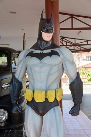 batman: AYUTTAYA,THAILAND - DECEMBER 19, 2014 : Batman model at Thung Bua Chom floating market