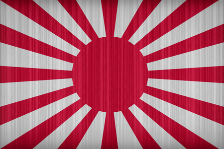 japanes: Imperial Japanes Army flag pattern on the fabric curtain,vintage style Stock Photo