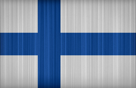finland flag: Finland flag pattern on the fabric curtain,vintage style