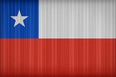 bandera de chile: Patr�n de bandera de Chile en la cortina de tela, estilo vintage