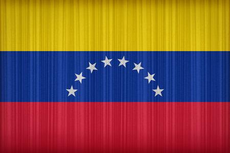 venezuela flag: Venezuela flag pattern on the fabric curtain,vintage style