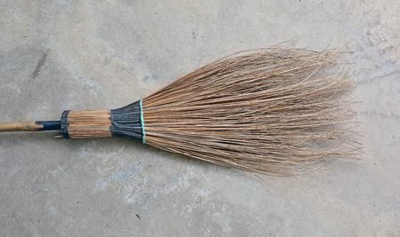 coconut leave broom photo