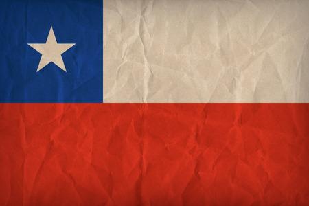 bandera de chile: Patr�n de bandera de Chile en la textura de papel, estilo retro de la vendimia