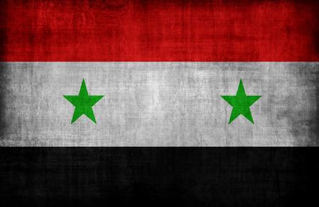 retrospective: Syria flag pattern ,retro vintage style