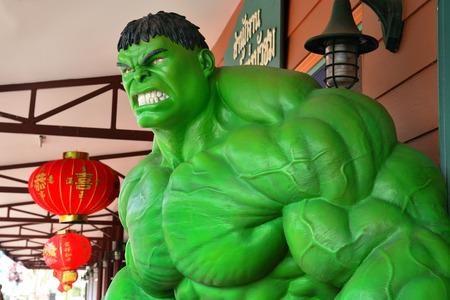 ayuttaya: AYUTTAYA ,THAILAND- MARCH 04, 2015: The Hulk model at Thung Bua Chom floating market