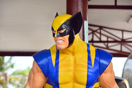 wolverine: AYUTTAYA,THAILAND - MARCH 04, 2015 : Wolverine model at Thung Bua Chom floating market