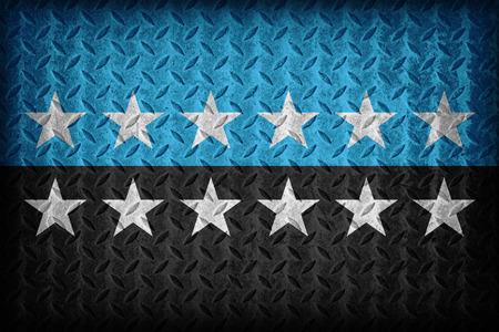 european community: European Coal and Steel Community 12 star flag pattern on diamond metal plate texture ,vintage style