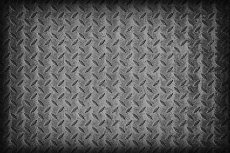 diamond plate: Gray flag pattern on diamond metal plate texture ,vintage style Stock Photo