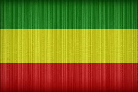 reggae: motif de drapeau de Rasta sur le rideau de tissu, style vintage Banque d'images
