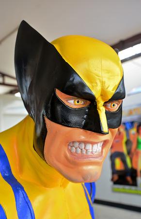 wolverine: AYUTTAYA,THAILAND - MARCH 16, 2015 : Closeup the Wolverine model at Thung Bua Chom floating market Editorial