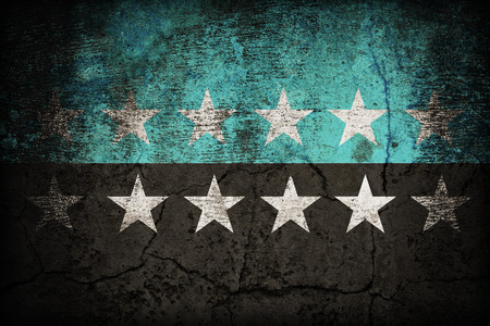 european community: European Coal and Steel Community 12 star on dirty old concrete wall texture ,retro vintage style