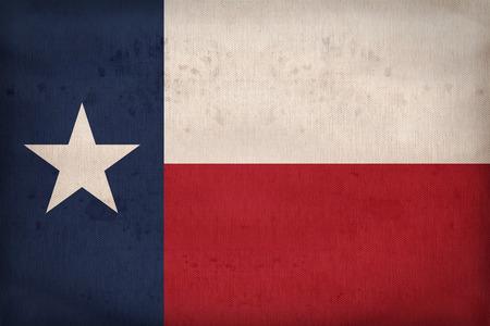 布のテクスチャ、レトロなビンテージ スタイルのテキサス州旗 写真素材