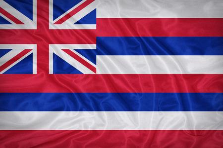 hawaii flag: Hawaii flag on fabric texture,retro vintage style