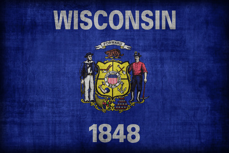 wisconsin flag: Wisconsin flag pattern, retro vintage style