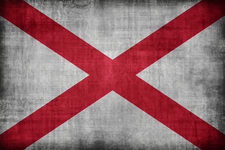 alabama flag: Alabama flag pattern, retro vintage style