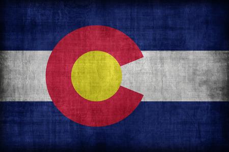 colorado flag: Colorado flag pattern, retro vintage style Stock Photo