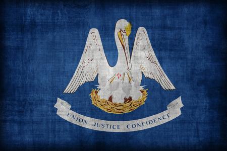 louisiana flag: Louisiana flag pattern, retro vintage style Stock Photo