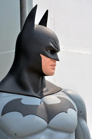 batman: AYUTTAYA,THAILAND - APRIL 11, 2015 : Batman model at Thung Bua Chom floating market