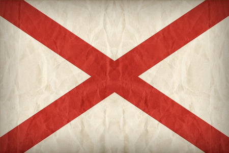 alabama flag: Alabama flag on paper texture,retro vintage style
