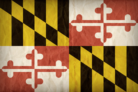 maryland flag: Maryland flag on paper texture,retro vintage style Stock Photo