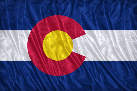 colorado flag: Colorado flag pattern on the fabric texture ,vintage style