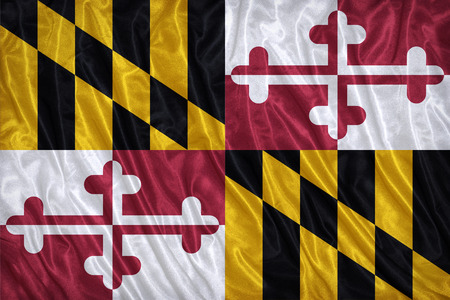 maryland flag: Maryland flag pattern on the fabric texture ,vintage style
