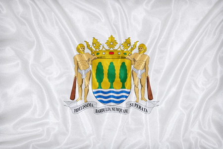 foreign land: Guipuzcoa , Gipuzkoa flag pattern on fabric texture,retro vintage style