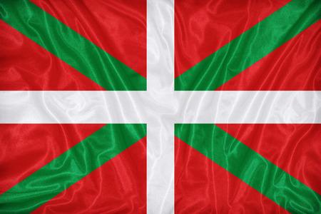 foreign land: Ikurrina , Basque Autonomous Community flag pattern on fabric texture,retro vintage style