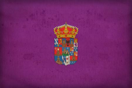 foreign land: Guadalajara flag pattern on fabric texture,retro vintage style Stock Photo