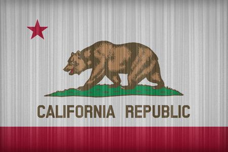 california flag: California flag pattern on the fabric curtain, vintage style