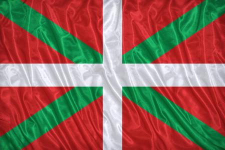 foreign land: Ikurriña , Basque Autonomous Community flag pattern on the fabric texture ,vintage style