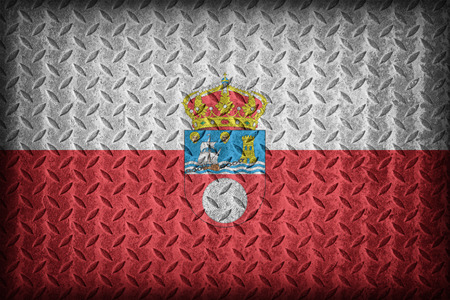 foreign land: Cantabria flag pattern on diamond metal plate texture ,vintage style