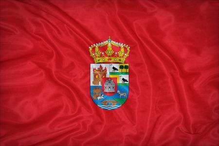 foreign land: Avila flag on fabric texture,retro vintage style