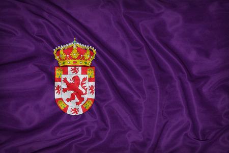 foreign land: Cordoba , Cordova flag on fabric texture,retro vintage style