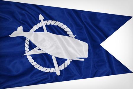Nantucket ,Massachusetts flag on fabric texture,retro vintage style