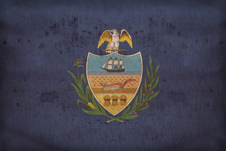 allegheny: Allegheny County , Pennsylvania flag on fabric texture,retro vintage style Stock Photo