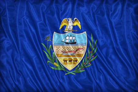 allegheny: Allegheny County , Pennsylvania. flag pattern on the fabric texture ,vintage style