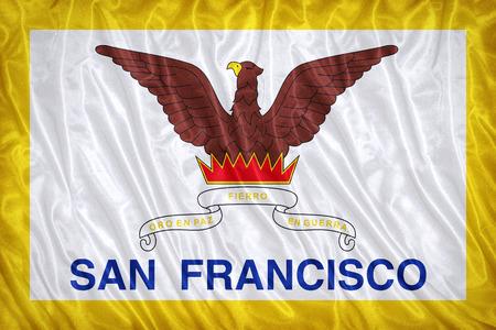 california flag: San Francisco ,California flag pattern on the fabric texture ,vintage style