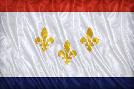 louisiana flag: New Orleans ,Louisiana flag pattern on the fabric texture ,vintage style