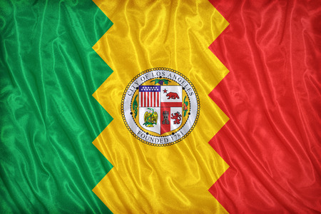 california flag: Los Angeles ,California flag pattern on the fabric texture ,vintage style