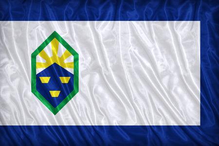 colorado flag: Colorado Springs ,Colorado flag pattern on the fabric texture ,vintage style