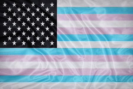 transamerica: TransAmerica flag on fabric texture,retro vintage style
