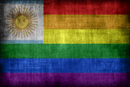 bandera gay: Argentina patr�n de la bandera gay, estilo retro de la vendimia Foto de archivo