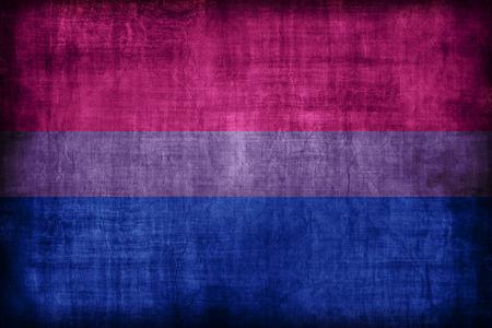Bisexual flag , retro vintage style Stock Photo