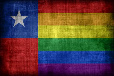 bandera gay: Chile patr�n de la bandera gay, estilo retro de la vendimia