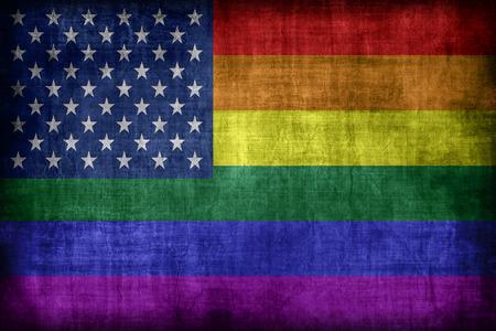 lesbian: USA Lesbian Gay Bisexual Transgender flag pattern, retro vintage style Stock Photo
